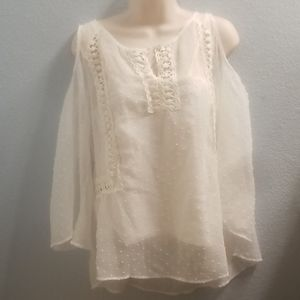 Ivory Blouse, Status by Chenault Brand, NWT